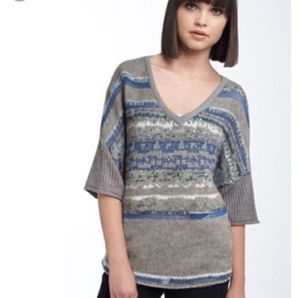 Free people Grey and blue sequins oversiz sweater